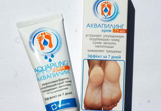 Ефективність крему для ніг аквапілінг: інструкція, склад і дію